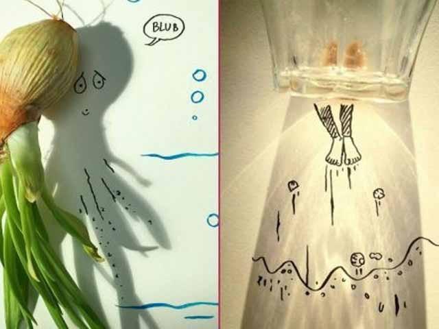 Gölgeleri Dile Getiren Sanatçıdan Eğlenceli Eser