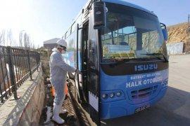 Bayburt'ta Toplu Taşıma Araçları İlaçlanıyor