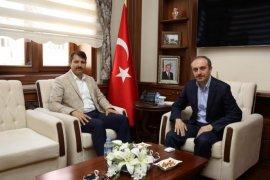 Sivas Valisi Salih Ayhan Vali Cüneyt Epcim'i Ziyaret Etti.