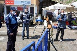 Vali Cüneyt Epcim Halk Pazarında Denetlemelerde Bulundu