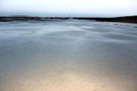 Bayburt'ta Göletler Buz Tuttu
