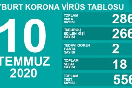 Bayburt'ta Umut Veren Koronavirüs Tablosu