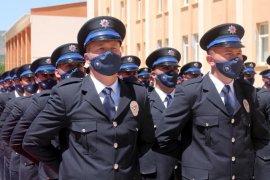 Bayburt'ta Polis Adayları Mezuniyet Sevinci Yaşadı