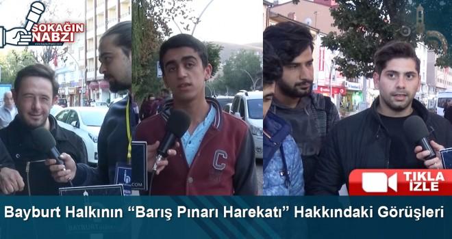 Bayburt Halkından Barış Pınarı Harekatı'na Tam Destek