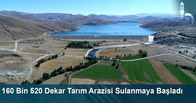 160 Bin 520 Dekar Tarım Arazisi Sulanmaya Başladı