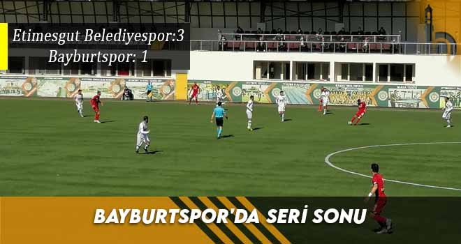 Bayburtspor'da Seri Sonu