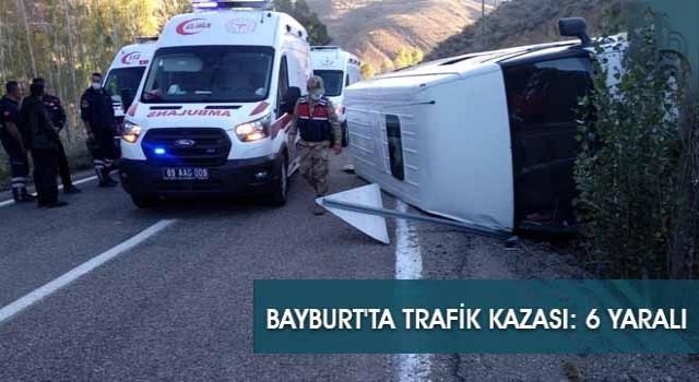 Bayburt'ta Trafik Kazası: 6 Yaralı