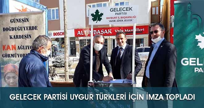 Gelecek Partisi Uygur Türkleri İçin İmza Topladı