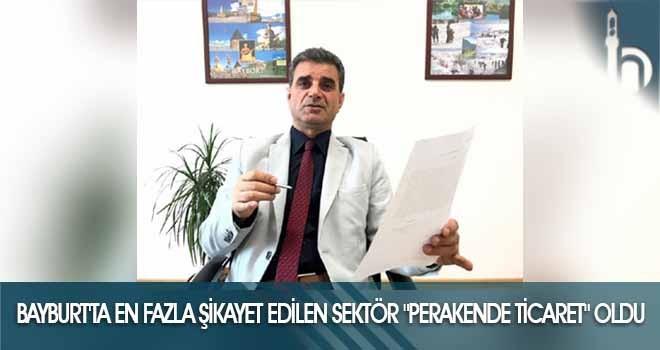 Bayburt'ta En Fazla Şikayet Edilen Sektör