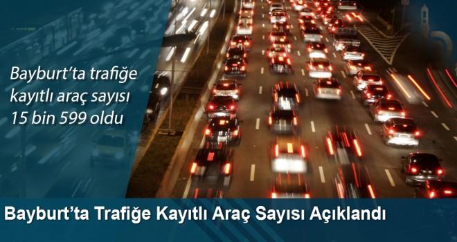 Bayburt'ta trafiğe kayıtlı araç sayısı 15 bin 599 oldu
