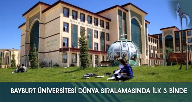 Bayburt Üniversitesi Dünya Sıralamasında İlk 3 Binde
