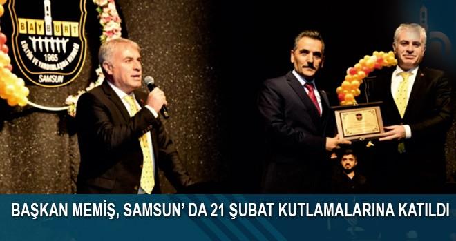Başkan Memiş, Samsun'da 21 Şubat Kutlamalarına Katıldı