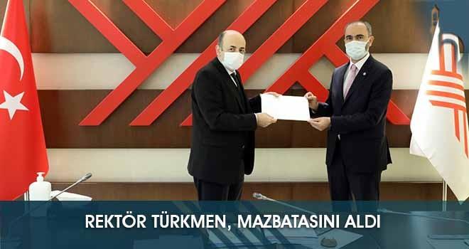 Rektör Türkmen, Mazbatasını Aldı