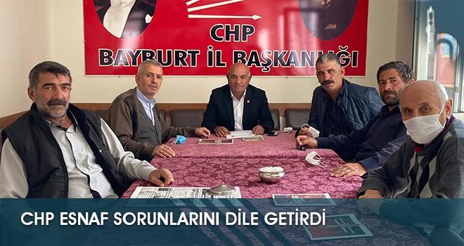 CHP Esnaf Sorunlarını Dile Getirdi