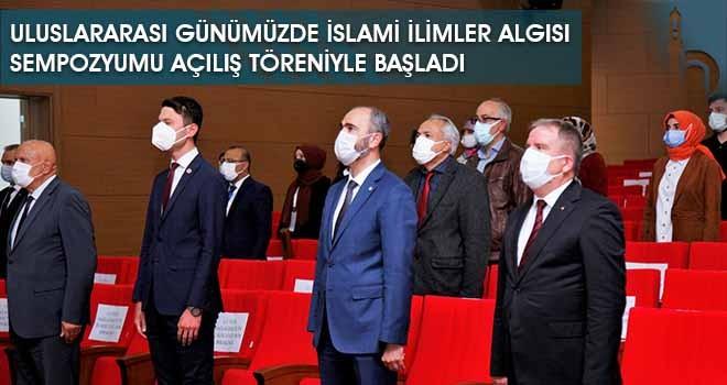 Uluslararası Günümüzde İslami İlimler Algısı Sempozyumu Açılış Töreniyle Başladı