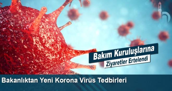 Bakanlıktan Yeni Korona Virüs Tedbirleri