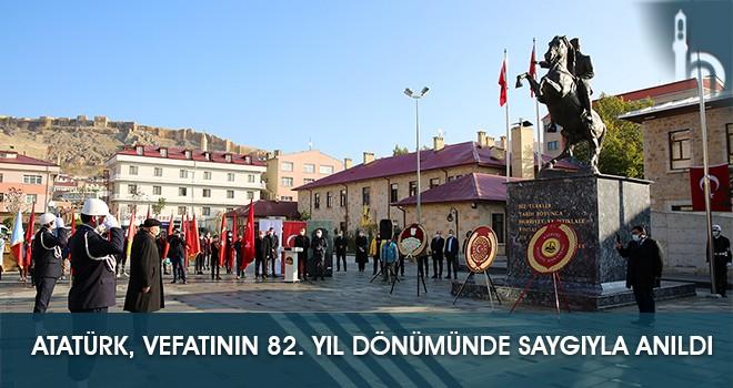 Atatürk, Vefatının 82. Yıl Dönümünde Saygıyla Anıldı