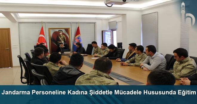 Jandarma personeline kadına şiddetle mücadele hususunda eğitim