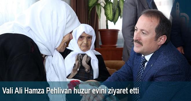 Vali Ali Hamza Pehlivan Huzur Evini Ziyaret Etti