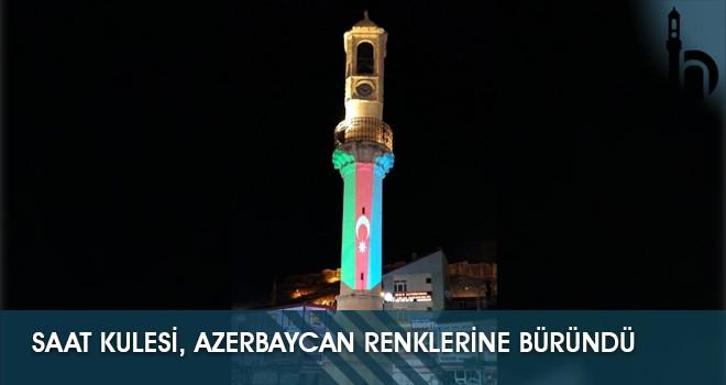 Saat Kulesi, Azerbaycan Renklerine Büründü