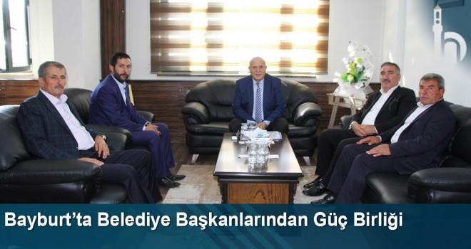 Bayburt'ta Belediye Başkanlarından Güç Birliği