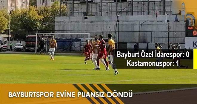 Bayburtspor Evine Puansız Döndü