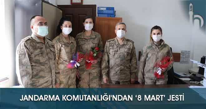 Jandarma Komutanlığı'ndan  '8 Mart' Jesti