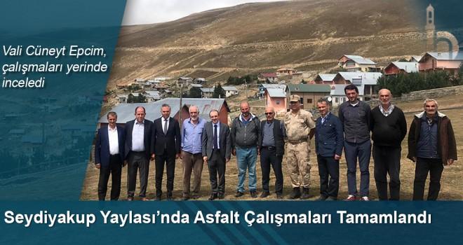 Vali Cüneyt Epcim, Seydiyakup Yaylası'nda Tamamlanan Asfalt Çalışmalarını İnceledi