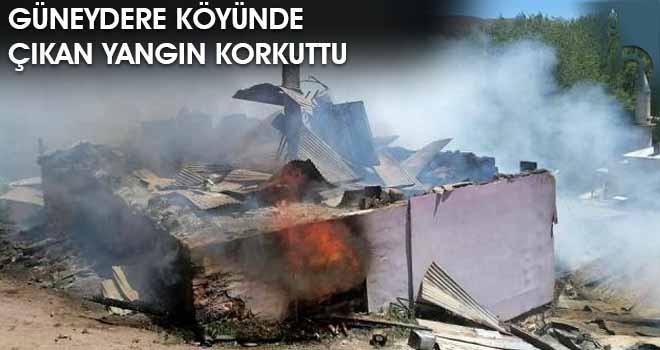 Güneydere Köyünde Çıkan Yangın Korkuttu