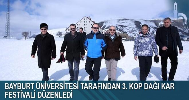 Bayburt Üniversitesi Tarafından 3. Kop Dağı Kar Festivali Düzenlendi