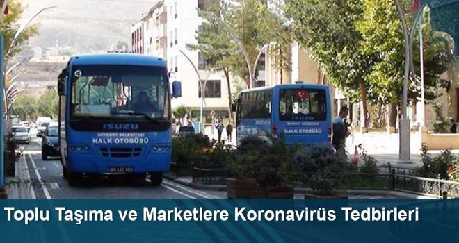 Toplu Taşıma ve Marketlere Koronavirüs Tedbirleri
