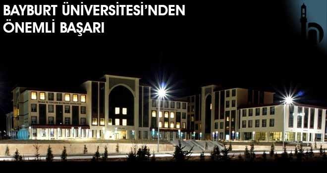 Bayburt Üniversitesi'nden Önemli Başarı