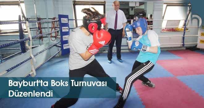 Bayburt'ta Boks Turnuvası Düzenlendi