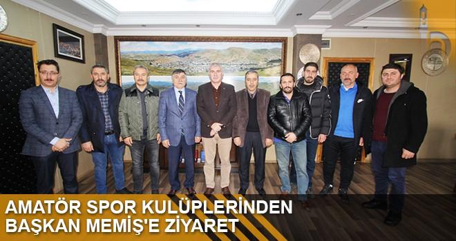 Amatör Spor Kulüplerinden Başkan Mamiş'e Ziyaret