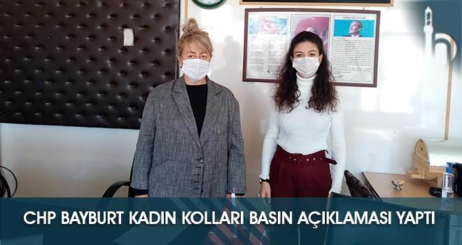 CHP Bayburt Kadın Kolları Basın Açıklaması Yaptı