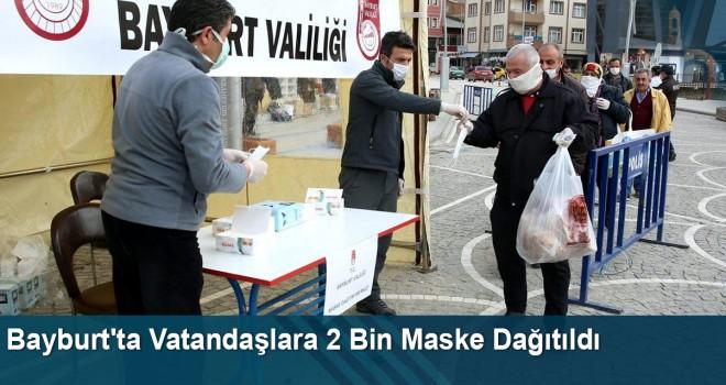 Bayburt'ta Vatandaşlara 2 Bin Maske Dağıtıldı