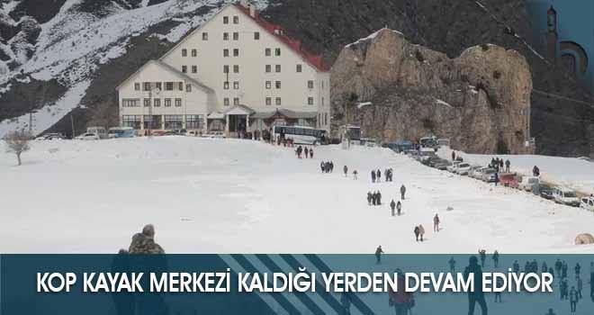 Kop Kayak Merkezi Kaldığı Yerden Devam Ediyor