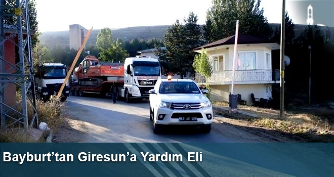 Bayburt'tan Giresun'a Yardım Eli
