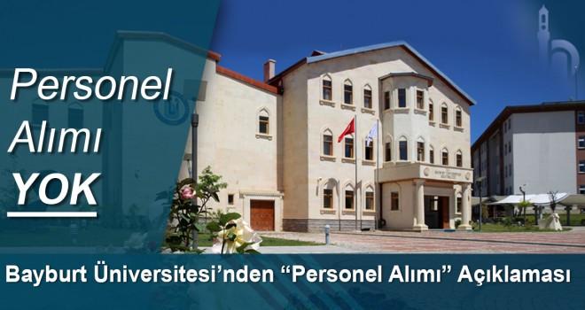 Bayburt Üniversitesi'nden Basın Açıklaması