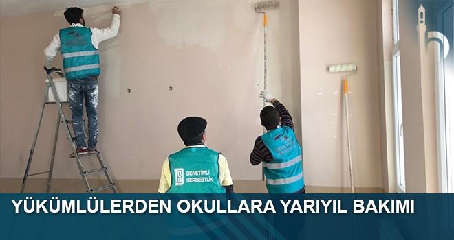Yükümlülerden Okullara Yarıyıl Bakımı