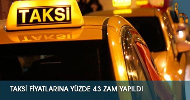 Taksi Fiyatlarına Yüzde 43 Zam Yapıldı