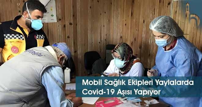 Mobil Sağlık Ekipleri Yaylalarda Covid-19 Aşısı Yapıyor