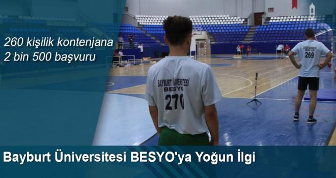 Bayburt Üniversitesi BESYO Özel Yetenek Sınavı Yoğun İlgiyle Tamamlandı