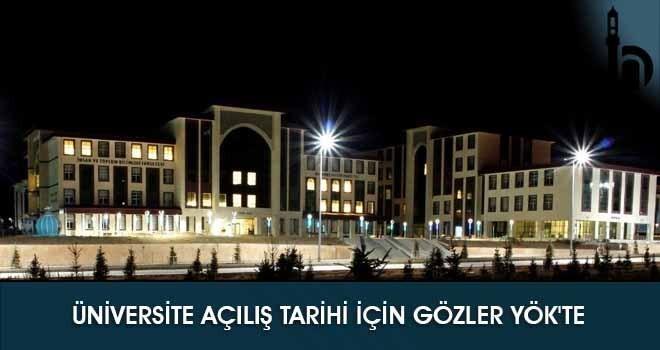 Üniversite Açılış Tarihi İçin Gözler YÖK'te