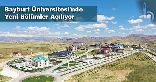 Bayburt Üniversitesi'nde  Yeni Bölümler Açılıyor