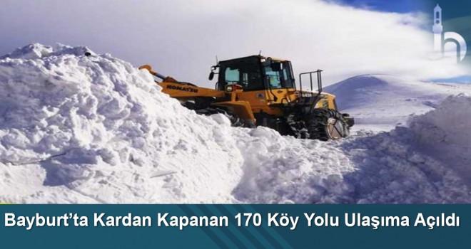 Bayburt'ta Kardan Kapanan 170 Köy Yolu Ulaşıma Açıldı
