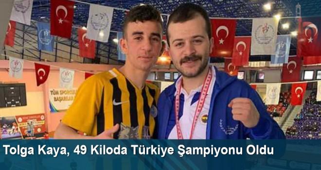 Tolga Kaya, 49 Kiloda Türkiye Şampiyonu Oldu