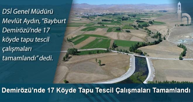 Bayburt Demirözü'nde 17 köyde tapu tescil çalışmaları tamamlandı