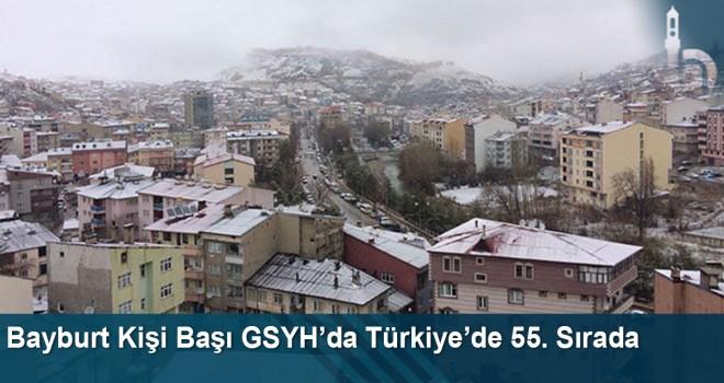 Bayburt kişi başı GSYH'da Türkiye'de 55. sırada