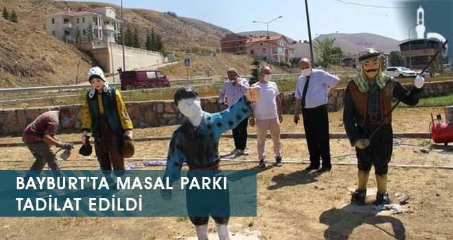 Bayburt'ta Masal Parkı Tadilat Edildi